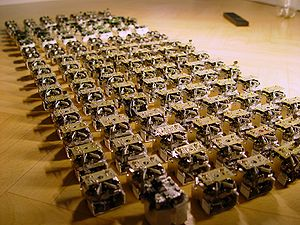 A swarm of robots in the Open-source micro-rob...