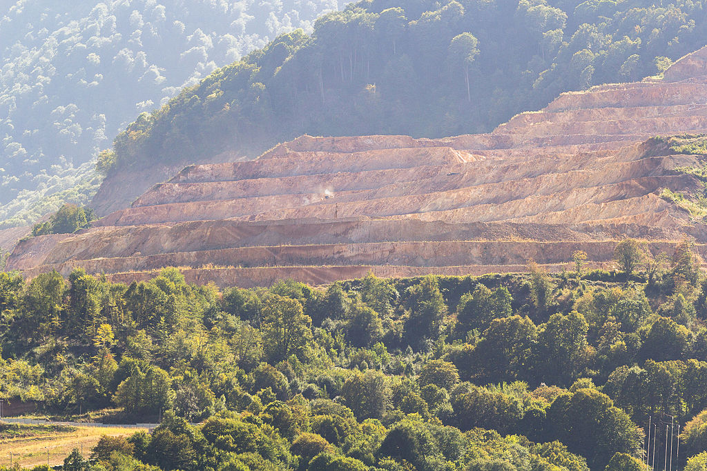 Teghut Mine - closeup of open pit