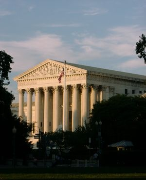 U.S. Supreme Court building in Washington, D.C...