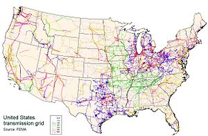 English: United States Power Grid