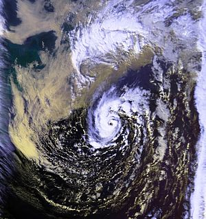 This image shows the unnamed hurricane of 1991...