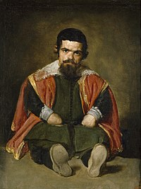 Velázquez – Bufón don Sebastián de Morra (Museo del Prado, c. 1645).jpg
