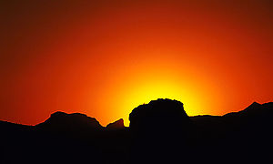 English: Sunset in Superstitions, Arizona - ht...