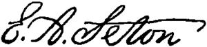 Signature of United States philanthropist Eliz...