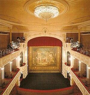 Stage in Polish Theatre in Bielsko-Biała.