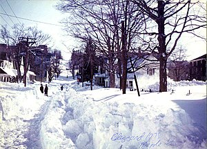 English: The Great blizzard of 1978. Taken on ...
