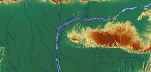 Relief map of the Brahmaputra system