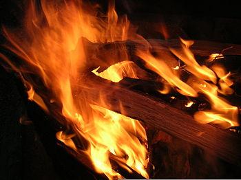 Campfire-flames