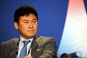 English: Hiroshi Mikitani, CEO of Rakuten, at ...