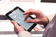 Android-Tablet Samsung Galaxy Tab (Bildquelle: Wikipedia)