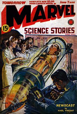 Norman Saunders - cover of Marvel Science Stories for April-May 1939
