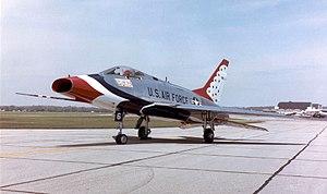 A North American F-100D Super Sabre from the U...