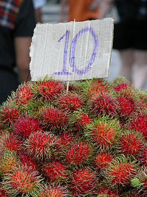 Rambutan for sale in a Bangkok market