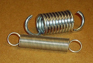 Helical or coil springs designed for tension