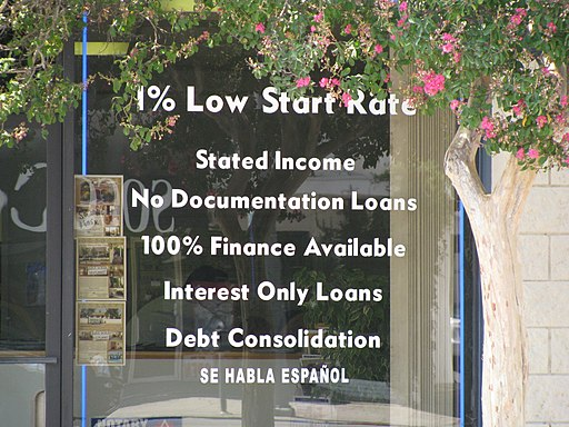 No documentation loans? Excuse me?