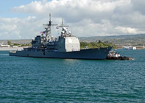 USS Lake Erie (CG-70) 2007 im Hafen Pearl Harbor