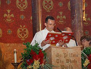 If a deacon participates, he reads the Gospel....
