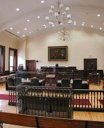 English: Interior photo of a courtroom in Broc...