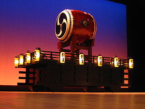 A picture of a taiko drum used by the taiko dr...