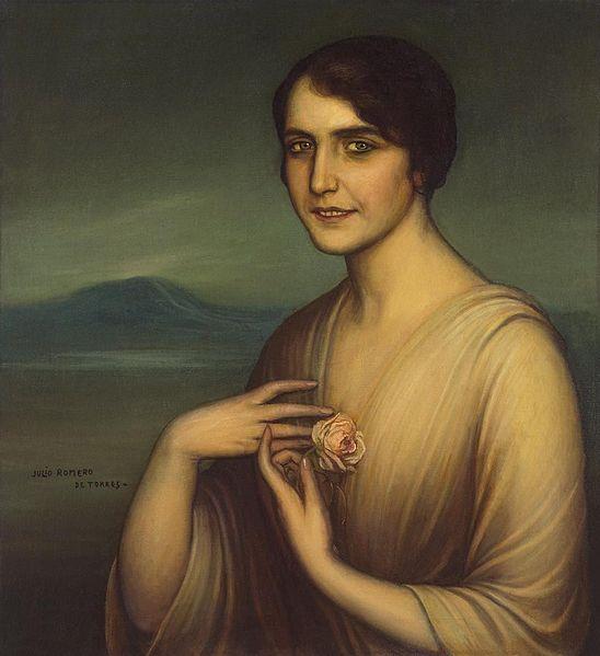 Archivo:La dama de la rosa by Julio Romero de Torres.jpg