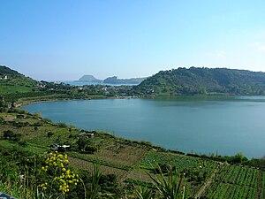 Lake Avernus or lago d'Averno
