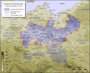 Brandenburg until the extinction of the Ascani...