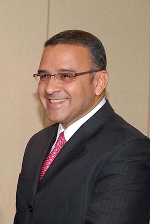 Mauricio Funes, FMLN candidat for the presiden...