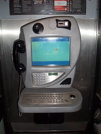 A BT Internet payphone loading Windows XP Embe...