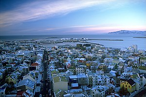 View of Reykjavík from the tower of Hallgrímsk...
