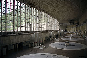 English: Generator Hall of Sayano–Shushenskaya...