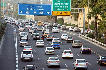 English: Afternoon Traffic Jams near 'Halacha'...