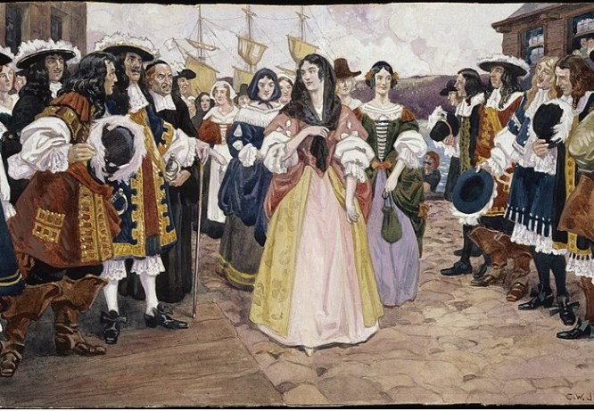 File:The Arrival of the French Girls at Quebec, 1667 - C.W. Jefferys.jpg