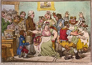 1802 caricature of Jenner vaccinating patients...