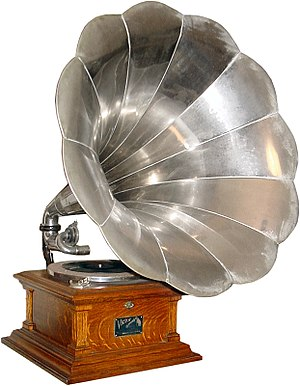 Deutsch: Victor V Disc Phonograph (Gramophone)...