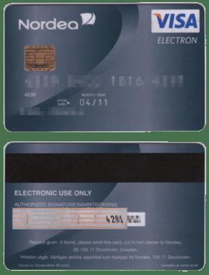 English: Visa Electron debit card Svenska: Vis...