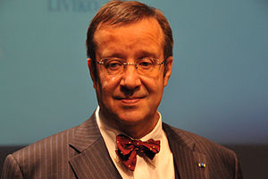 English: Estonian President Toomas Hendrik Ilves.