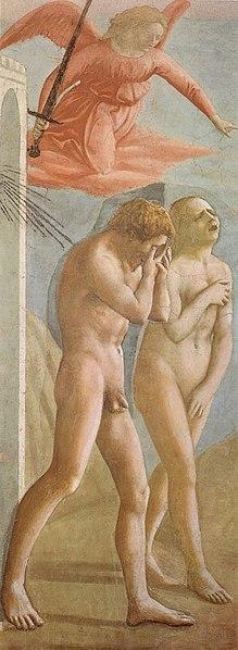 File:Cappella brancacci, Cacciata di Adamo ed Eva (restaurato), Masaccio.jpg
