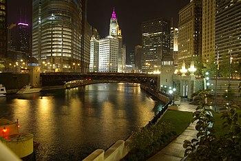 Chicago River @ night