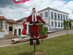 Decoration of Santa Claus, in the Nossa Senhor...