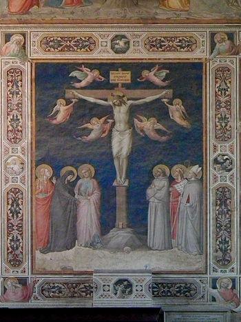 Crucifixion, Basilica of Santa Croce, Florence...