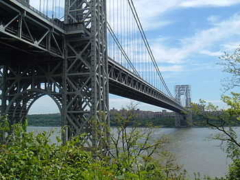English: George Washington Bridge from New Jersey