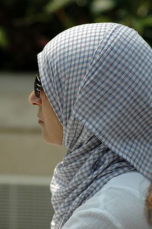 Woman wearing a hijab (Muslim veil or headscar...
