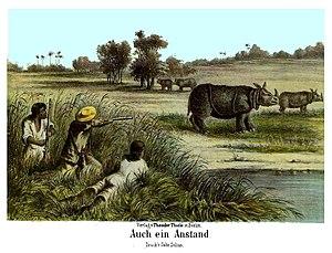 """Javan Rhino """"Auch ein Anstand"""", from..."""