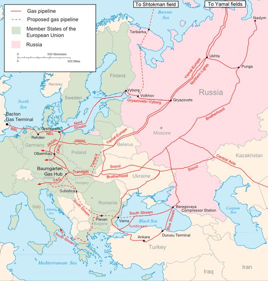 Red de gasoductos