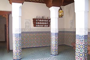 Tile work in the Morocco pavillion at the Epco...