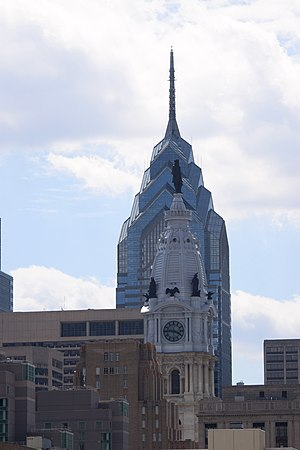 Two of Philadelphia's former highest structure...