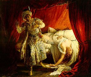 Othello and Desdemona, by Alexandre-Marie Colin