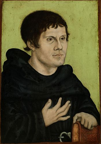 Portrait of Martin Luther as an Augustinian Monk