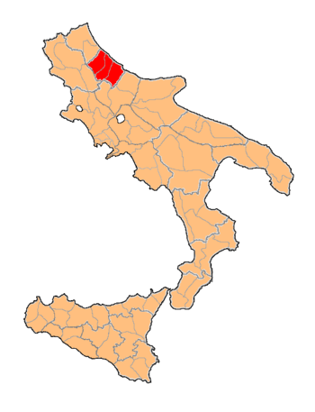 English: Department of Abruzzo Citeriore, of K...