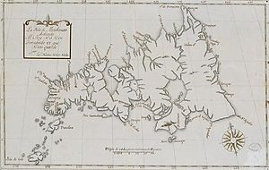 Spanish map of Mindanao. Oldest extant map fea...